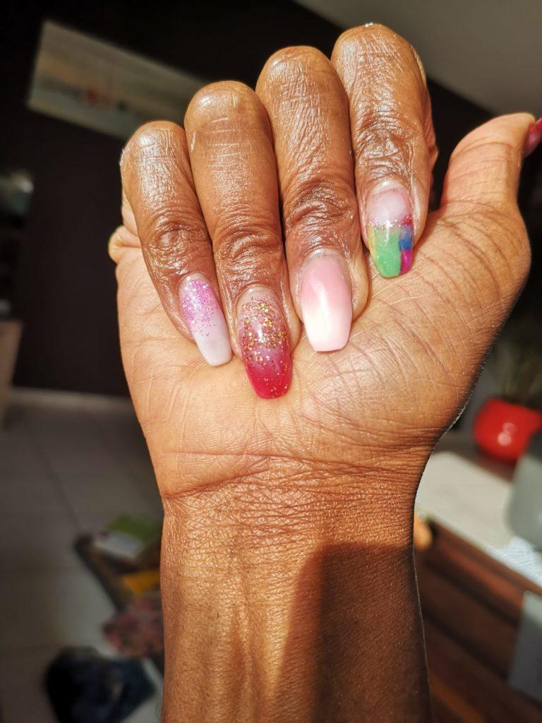 Onglerie Baby boomer nail art Albi