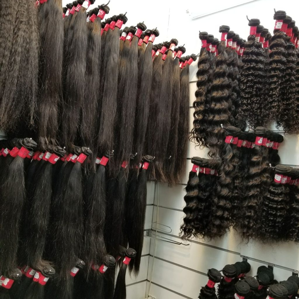 Coiffure afro mèches extensions Albi